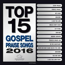 Top 15 Gospel Praise Songs 2016 by Maranatha! Gospel (CD Mar-2016 Maranatha) NEW