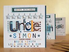 Brother & Uncle birthday card special personalised card. UNCLE BROTHER BIRTHDAY