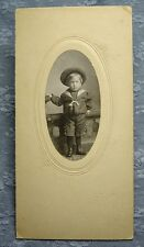 Antique PHOTOGRAPH YOUNG BOY IN SAILOR OUTFIT Post's Studio Denver circa 1905ish