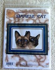 SIAMESE CAT Counted Cross STITCH KIT Unused Cross My Heart 2002 unused FREE SHIP