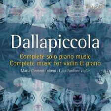 LUCA CLEMENTI - COMPLETE MUSIC FOR PIANO AND VIOLIN  CD NEU DALLAPICCOLA,LUIGI