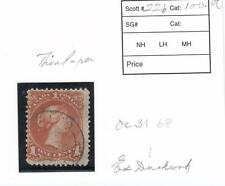 CANADA # 22b THIN PAPER DATED 1868 1ct LARGE QUEEN EX DUCKWORTH COLLECTION