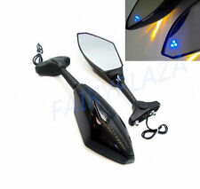 Amble LED Turn Signal Integrated Mirrors For Suzuki GSXR 600 750 1000 Hayabusa