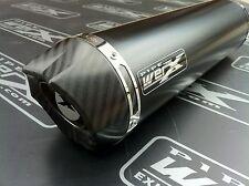 Kawasaki Zzr 1400 2008-2011 Par De Redonda Negra, carbono Salida De Escape Silenciadores