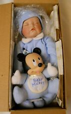 """ASHTON-DRAKE """"BABY MICKEY"""" BABY BOY BLUE W/BABY MICKEY, COMPLETE,9679FH, IN BOX!"""