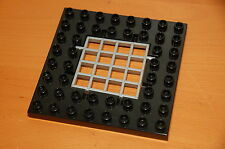 Lego Duplo Black 8x8 Baseplate trap Door with Grey Gate