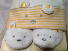 Carter's Baby Hat Cap And Booties White Yellow Cotton Gift Set New With Tag