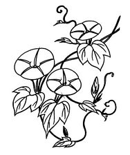 """Clear stamp (2.5""""x3"""") Flowers on a Vine FLONZ vintage acrylic rubber stamps"""