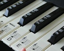 Keyboard or Piano Stickers up to 88 KEY SET for the black and white keys