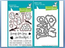 Lawn Fawn Photopolymer Clear Stamp & Die Combo ~ JUMP FOR JOY  Fall ~LF1212,1213