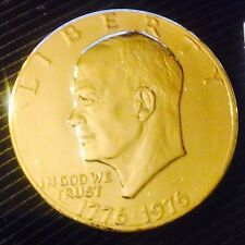 24K Gold Plated 1976 Eisenhower Dollar