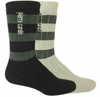 Pierre Cardin Cotton Blend Everyday Fully Cushioned Striped Socks UK 7-11 2 Pack