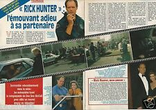 Coupure de presse Clipping 1991 Fred Dryer Rick Hunter  (2 pages)