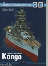 Japanese Battleship KONGO - Super Drawings in 3D - Kagero ENGLISH