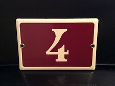 French solid enamel door number plate 4   #55 -  41, 14