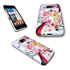 DESIGN FLOWER SILIKON TPU COVER CASE + Displayschutzfolie für SAMSUNG GALAXY S2