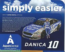 "2017 DANICA PATRICK ""ASPEN DENTAL"" #10 NASCAR MONSTER ENERGY CUP POSTCARD"