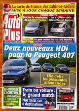 AUTO PLUS du 6/06/2006; New HDi peugeot 407/ Essai Clio Rs/ Coupe du Monde Foot