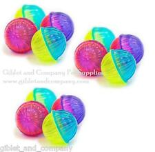 MULTICOLORED BALLS 4pack CAT TOYS - Two Tone Plastic Rattle Balls Fun Smack