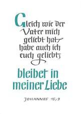 "Ansichtskarte Psalm ""Johannes 15,9"" unbeschrieben 1960 ""2142"""