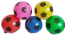 5x IN PLASTICA PVC palloni da calcio IMBALLATO piatto uninflated OFFERTA SPECIALE Joblot RRP £ 9.99