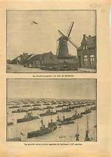 Windmill Netherlands /Royal Navy Port Spithead Ship England UK 1911 ILLUSTRATION