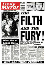 Poster SEX PISTOLS - Daily Mirror - The Filth And The Fury ca60x85cm NEU 15331