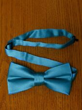 Turquoise  Bow Tie Pre Tied Matte Satin Tuxedo Wedding Prom Groom Formal Baja