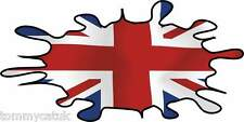 Union Jack Flag Splats Car Scooter Vinyl Stickers Decals x 2