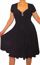 KZ2 Funfash Plus Size Clothing for Women Slimming Black Cocktail Dress 2x 22 24