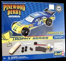 NIB REVELL BOYS SCOUT OF AMERICA PINEWOOD DERBY STOCK CAR TROPHY SET COMPLETE