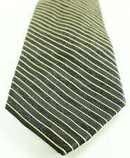 NEW MENS CALVIN KLEIN GLIMMER BORDER STRIPE SILK BLEND NECK TIE $65
