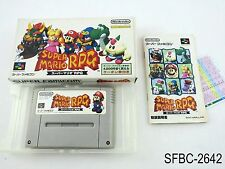 Complete Super Mario RPG Super Famicom Japanese Import Boxed CIB US Seller C