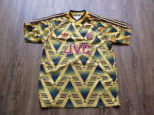 RARE CLASSIC ARSENAL  1991 away ADIDAS FOOTBALL SHIRT SIZE MEDIUM YELLOW JVC