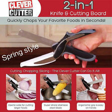 Clever Cutter 2-in-1 Knife & Cutting Board Scissors As Seen On TV Kitchen AAA+