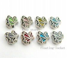 10pcs Mix-Butterfly Floating charms For Glass living memory Locket FC0996