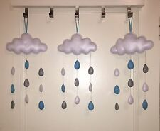 Personalized hanging nursery mobile decoration cloud raindrop baby shower gift