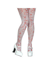 Blood Spattered Tights Fancy Dress Adult Halloween Accessory (One Size) BN