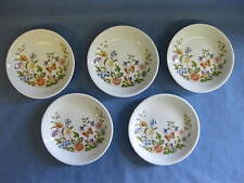"5 aynsley ""cottage garden"" fine bone china pin/bijou/beurre plats ~ anglais"