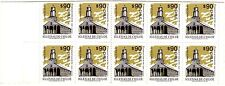 CHILE, CHURCHES OF CHILOÉ, STAMP BOOKLET WITH 10 STAMPS, MINT NEVER HINGED