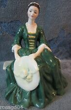 "Royal Doulton China Figurine ""A Lady From Williamsburg"" By Peggy Davies England"