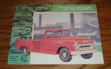 1957 Chevrolet Truck Task Force Pickups Foldout Sales Brochure 57 Chevy
