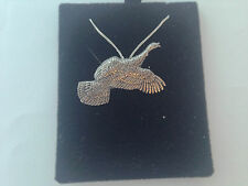 B17B Flying Turkey on a 925 sterling silver Necklace Handmade 26 inch chain
