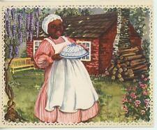VINTAGE GIRL COOK CHEF PURPLE WISTERIA PECAN & KEY LIME PIE RECIPE CARD PRINT