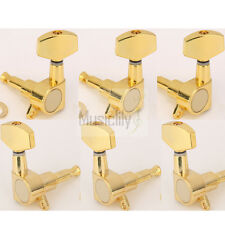 New Gold 3L3R Big Button Guitar Sealed Tuning Pegs Keys Machine Heads Tuners
