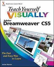 Teach Yourself VISUALLY Dreamweaver CS5, Warner, Janine, Good Condition, Book