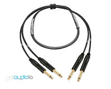 Premium 2 Channel Mogami 2930 Instrument Cable | Neutrik Gold TS to TS | 3 ft.