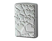 Zippo Fill Love A Lot of Warming Hearts / Diano Silver / Rare Model from Japan !
