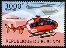 MBB/KAWASAKI BK-117 REGA Swiss Air Ambulance Helicopter EC145 Aircraft Stamp #1