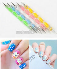 5Pcs 2 Way Nice Dotting Manicure Tools Painting Pen Marbleizing Nail Art Paint#